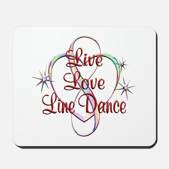 Live Love Line Dance Mousepad