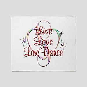 Live Love Line Dance Throw Blanket