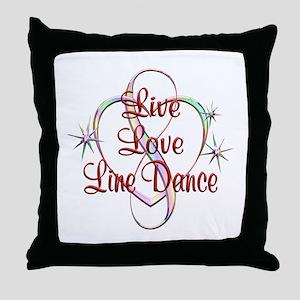 Live Love Line Dance Throw Pillow