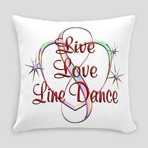 Live Love Line Dance Everyday Pillow