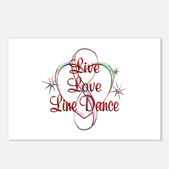 Live Love Line Dance Postcards (Package of 8)