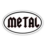 Metal Oval Sticker