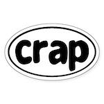 CRAP Oval Sticker