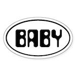 BABY Oval Sticker