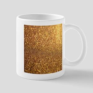 Golden Glitter Mugs