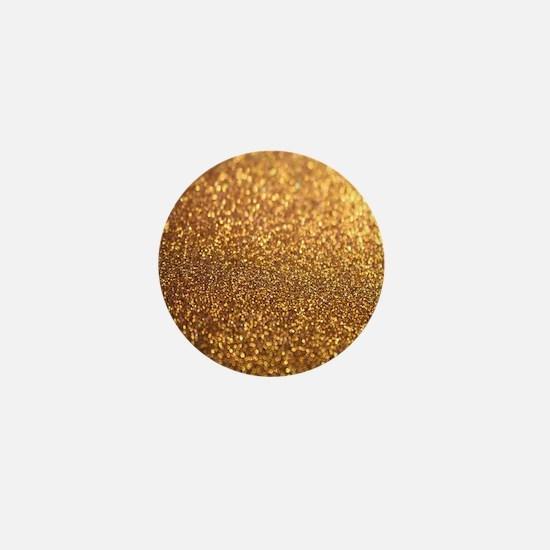 Golden Glitter Mini Button