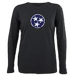 Vintage Tennessee Stars Plus Size Long Sleeve Tee