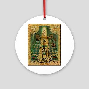 Freemassons Lodge Room Round Ornament