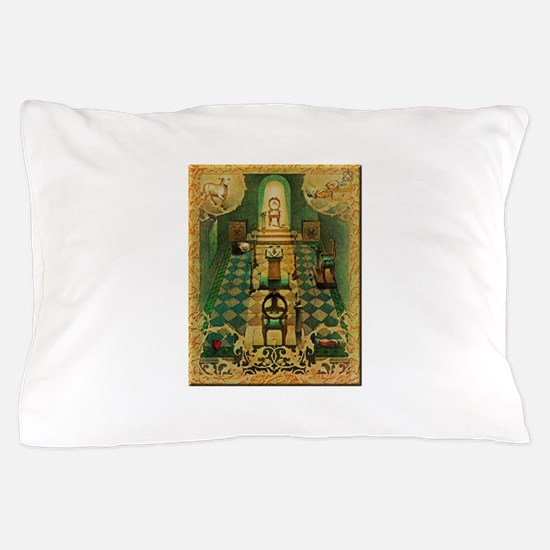 Freemassons Lodge Room Pillow Case