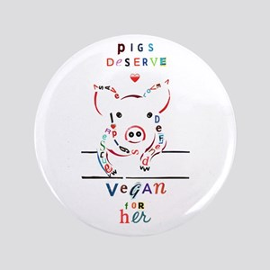 Pig Typography Button