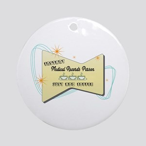Instant Medical Records Person Ornament (Round)