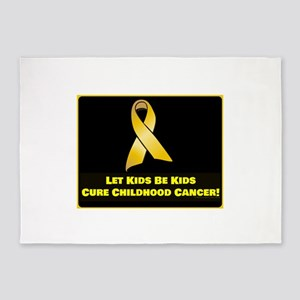 Cure Childhood Cancer! 5'x7'Area Rug