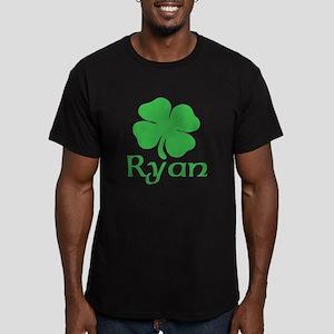 Ryan (shamrock) Men's Fitted T-Shirt (dark)