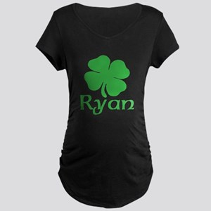 Ryan (shamrock) Maternity Dark T-Shirt