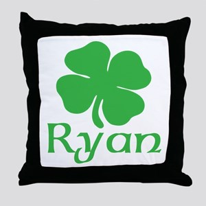 Ryan (shamrock) Throw Pillow