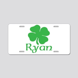 Ryan (shamrock) Aluminum License Plate
