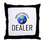 World's Greatest DEALER Throw Pillow