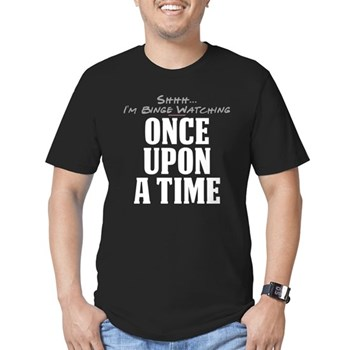 Shhh... I'm Binge Watching Once Upon a Time Men's Dark Fitted T-Shirt