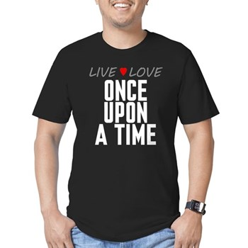 Live Love Once Upon a Time Men's Dark Fitted T-Shirt