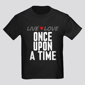 Live Love Once Upon a Time Kids Dark T-Shirt