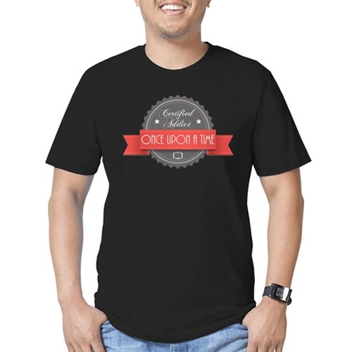 Certified Once Upon a Time Addict Men's Dark Fitted T-Shirt