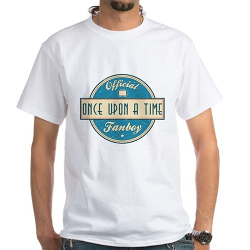 Official Once Upon a Time Fanboy White T-Shirt