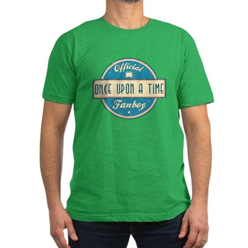 Official Once Upon a Time Fanboy Men's Dark Fitted T-Shirt