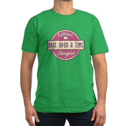 Official Once Upon a Time Fangirl Men's Dark Fitted T-Shirt