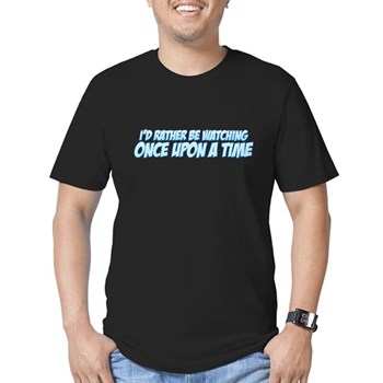 I'd Rather Be Watching Once Upon a Time Men's Dark Fitted T-Shirt