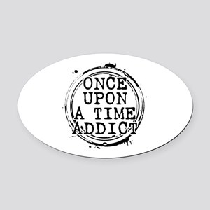 Once Upon a Time Addict Stamp Oval Car Magnet