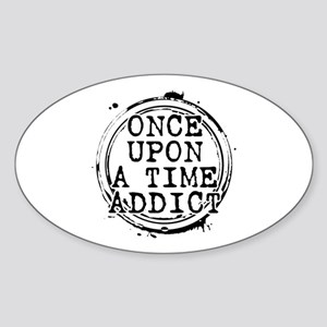 Once Upon a Time Addict Stamp Oval Sticker
