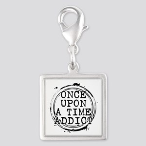 Once Upon a Time Addict Stamp Silver Square Charm