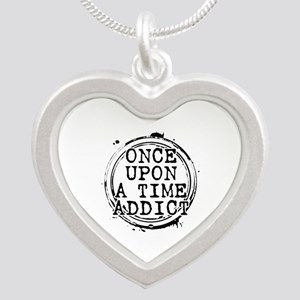 Once Upon a Time Addict Stamp Silver Heart Necklac