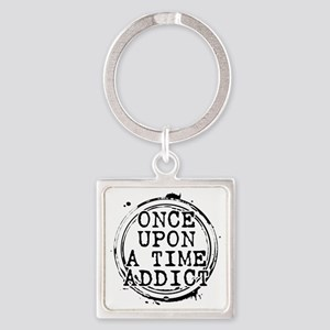 Once Upon a Time Addict Stamp Square Keychain