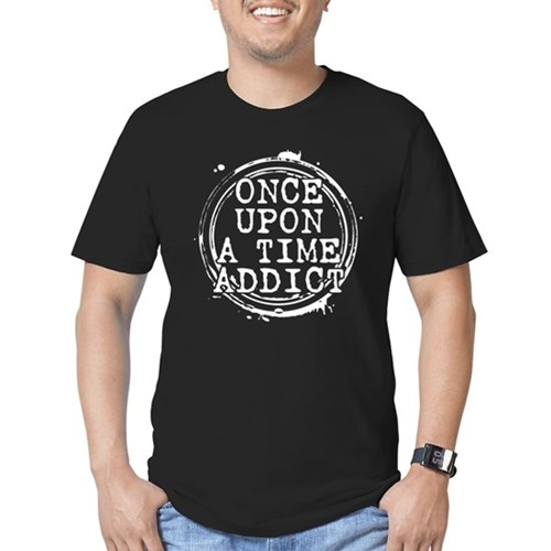 Once Upon a Time Addict Stamp Men's Dark Fitted T-Shirt