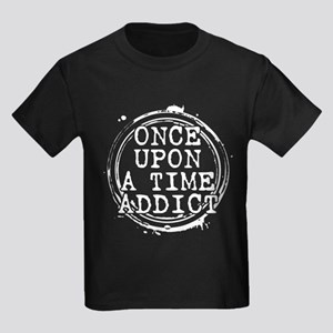 Once Upon a Time Addict Stamp Kids Dark T-Shirt