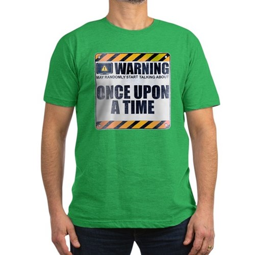 Warning: Once Upon a Time Men's Dark Fitted T-Shirt