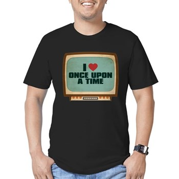 Retro I Heart Once Upon a Time Men's Dark Fitted T-Shirt
