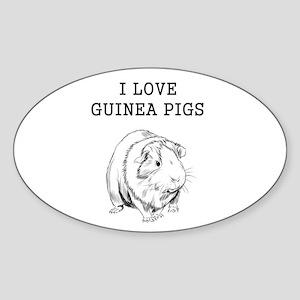 I Love Guinea Pigs Sticker