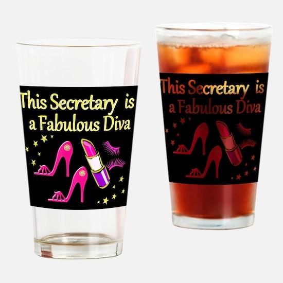 TOP SECRETARY Drinking Glass