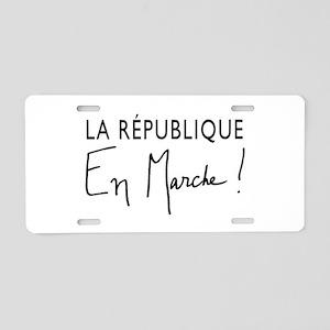 La Republique Aluminum License Plate