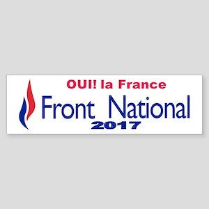 Front national Sticker (Bumper)