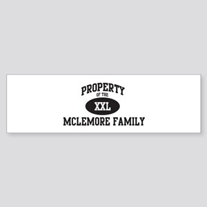 Property of Mclemore Family Bumper Sticker