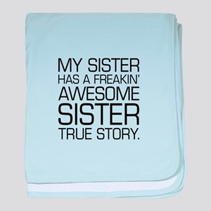 Awesome Sister baby blanket