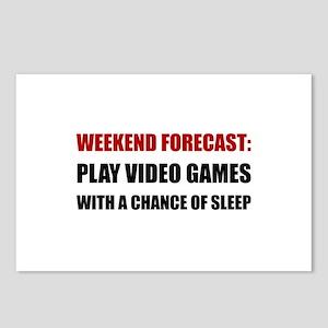 Play Video Games Sleep Postcards (Package of 8)