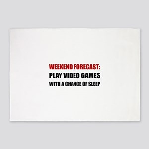 Play Video Games Sleep 5'x7'Area Rug