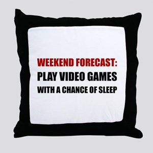 Play Video Games Sleep Throw Pillow