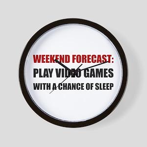 Play Video Games Sleep Wall Clock