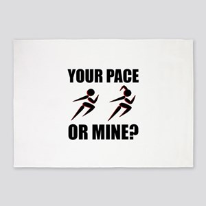 Running Your Pace Or Mine 5'x7'Area Rug