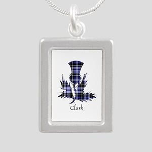 Thistle - Clark Silver Portrait Necklace